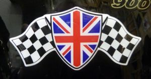3D GEL sticker  SET of 1 'UNION FLAG GP '  Size approx 12.4cm x 5.6cm (5 Inch x 2.2 Inch)